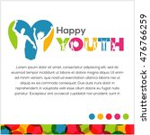 international youth day poster... | Shutterstock .eps vector #476766259