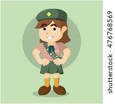 scout girl illustration design | Shutterstock .eps vector #476768569