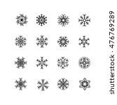collection of black snowflakes... | Shutterstock .eps vector #476769289