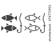 fishing line icon  outline and... | Shutterstock .eps vector #476772901