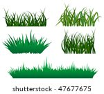 green grass elements for design ... | Shutterstock .eps vector #47677675