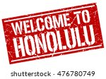 welcome to. honolulu. stamp | Shutterstock .eps vector #476780749