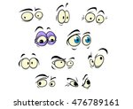 set of cartoon vector eyes... | Shutterstock . vector #476789161