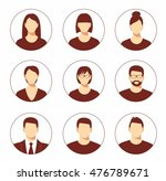 avatar profile icon set... | Shutterstock .eps vector #476789671
