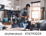crafting a new piece of jewelry ... | Shutterstock . vector #476792029