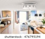 3d rendering smoke detector on... | Shutterstock . vector #476795194