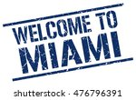 welcome to. miami. stamp | Shutterstock .eps vector #476796391