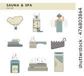 bath and sauna   set of line... | Shutterstock .eps vector #476803864