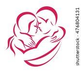 romantic love couple icon ... | Shutterstock .eps vector #476804131