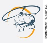 helicopter icon  stylized... | Shutterstock .eps vector #476804161