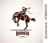 rodeo horse symbol  stylized... | Shutterstock .eps vector #476804194