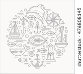 vector illustration with... | Shutterstock .eps vector #476808145