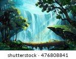 the wood bridge inside the deep ... | Shutterstock . vector #476808841