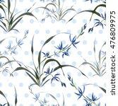 seamless floral pattern ... | Shutterstock . vector #476809975