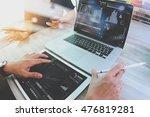 business team meeting present.... | Shutterstock . vector #476819281