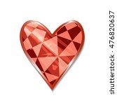 suit of hearts icon. vector... | Shutterstock .eps vector #476820637