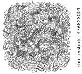 cartoon cute doodles hand drawn ... | Shutterstock .eps vector #476823001