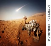 mars rover explores the red... | Shutterstock . vector #476826109