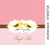 lovebird greeting card. vector... | Shutterstock .eps vector #47682718