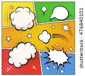 comic book speech bubbles.... | Shutterstock . vector #476840101