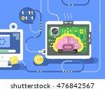 brain harddisk flat   Shutterstock .eps vector #476842567