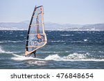 windsurfer in the sea | Shutterstock . vector #476848654