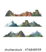 mountain mature silhouette... | Shutterstock .eps vector #476848939