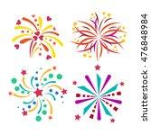 festive firework bursting shape ... | Shutterstock .eps vector #476848984