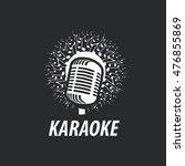 vector logo karaoke | Shutterstock .eps vector #476855869