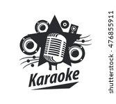 vector logo karaoke   Shutterstock .eps vector #476855911