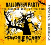 halloween party greeting card...   Shutterstock .eps vector #476860339