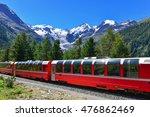 swiss mountain train bernina... | Shutterstock . vector #476862469