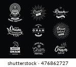happy onam background.... | Shutterstock .eps vector #476862727