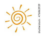 sun yellow isolated | Shutterstock .eps vector #476863939