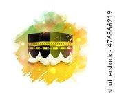 kaaba  mekkah. islamic sacred... | Shutterstock .eps vector #476866219