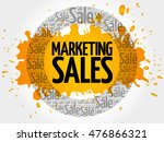 marketing sales words cloud ... | Shutterstock .eps vector #476866321