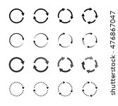 set of grey circle vector... | Shutterstock .eps vector #476867047