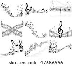 vector musical notes staff...   Shutterstock .eps vector #47686996