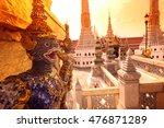 the wat phra kaew in banglamphu ... | Shutterstock . vector #476871289