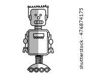 robot technology future... | Shutterstock .eps vector #476874175
