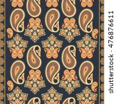 paisley seamless pattern | Shutterstock .eps vector #476876611