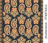 paisley seamless pattern | Shutterstock .eps vector #476876611