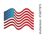 usa symbol flag isolated design   Shutterstock .eps vector #476877871