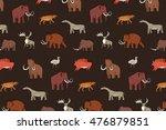 mammoth era pattern | Shutterstock .eps vector #476879851