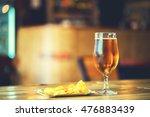 a fresh glass of cold light... | Shutterstock . vector #476883439