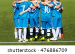 kids with soccer coach... | Shutterstock . vector #476886709