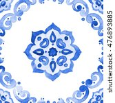 Delft Blue Style Seamless...
