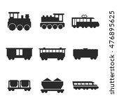 train vector icons. simple...