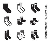 socks vector icons. simple...