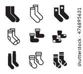 socks vector icons. simple...